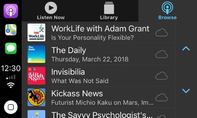 CarPlay Podcast App