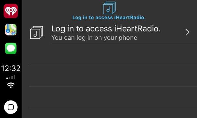 CarPlay iHeartRadio App