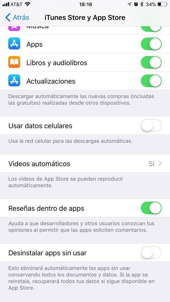 desinstalación automatica de apps