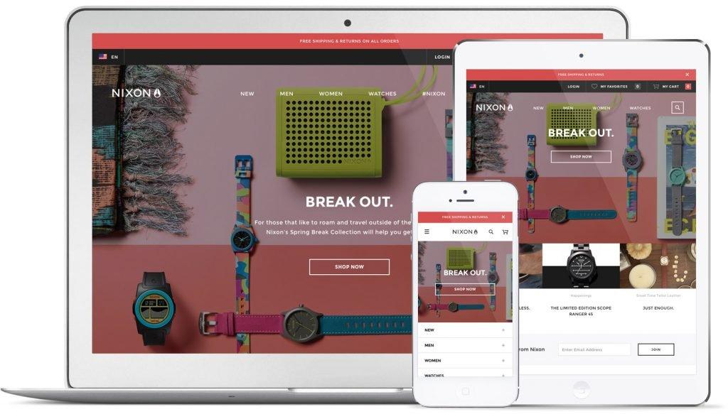 buen diseño para sitio web de e-commerce