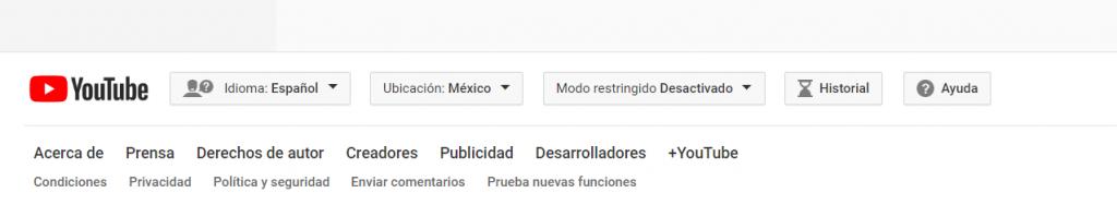 Traducción deshabilitar youtube