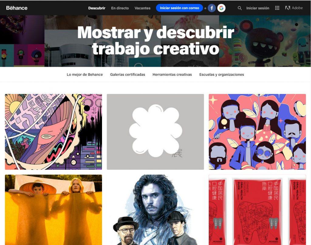 Pagina Behance Arte