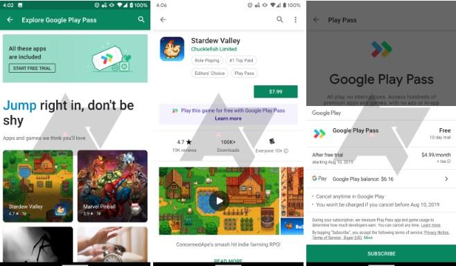 Google Play Pass imágenes